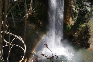 Rainbow across the Tiger Falls