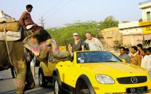 The Millennium Mercedes passing through India