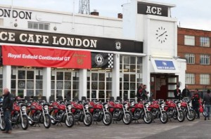 Conti launch at the historic Ace Cafe