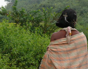 Going not easy: A tribal woman (Picture by Rita Wilaert)