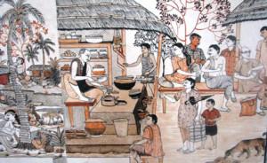 A mural in Raghurajpur (from IncredibleIndia.org)