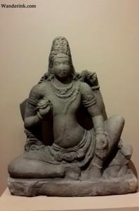Note Shiva's long torso