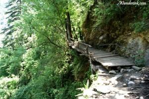 Around rickety ledges