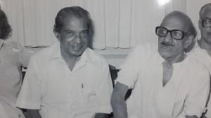 Stalwarts, buddies: with Basheer